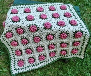 Field of Flowers Baby Blanket Designed by Nancy Brown