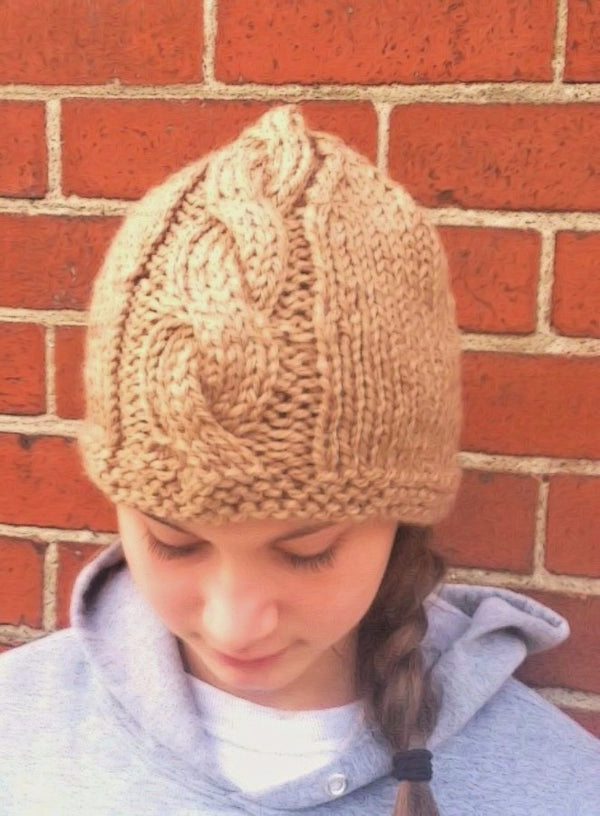 Center Cable Hat Kit - Designed by Laura L' Esperance