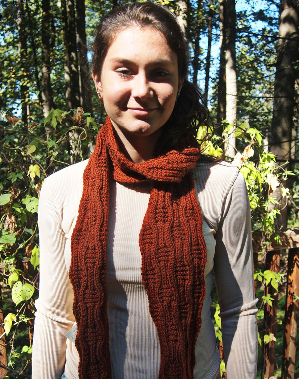 River Path Scarf  - Designed by Eleanor Swogger