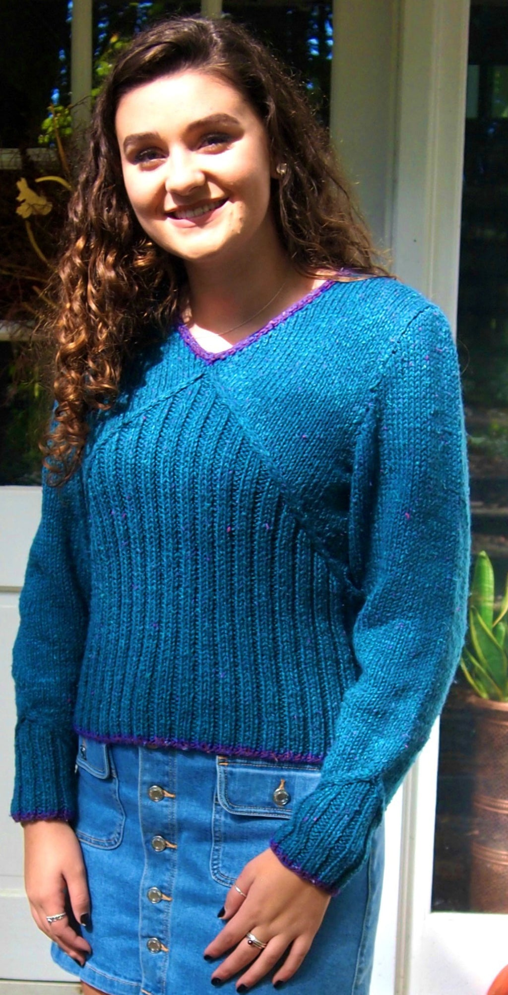 Double V Sweater - Designed by Christiane Burkhard