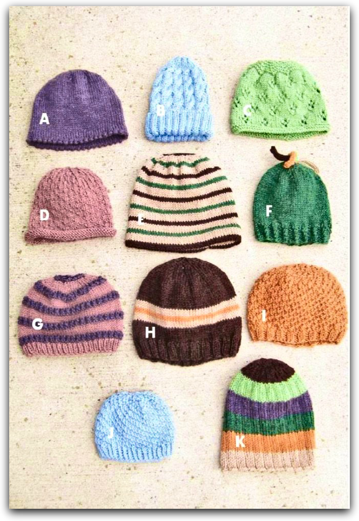 Hats for the Whole Family  - Designed by Eleanor Swogger