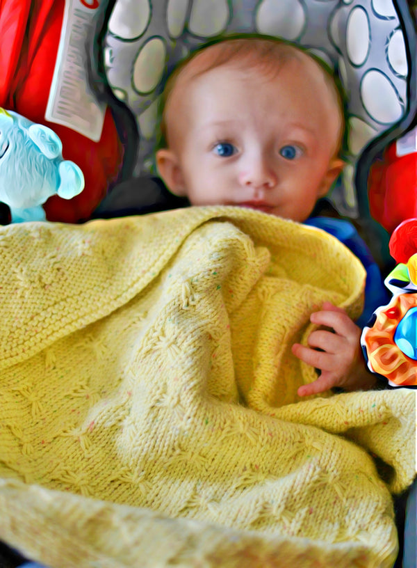 Kitten Whiskers Baby Blanket  - Designed by Stephanie Boozer