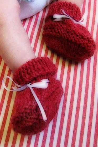 Knit for Baby Booties  - Designed by Judy Head