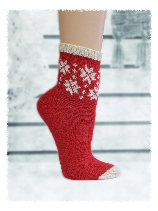 Let it Snow Socks  - Designed by Sharon Ivy