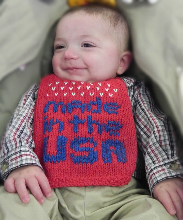 Made in the USA Bib  - Designed by Corina Cook