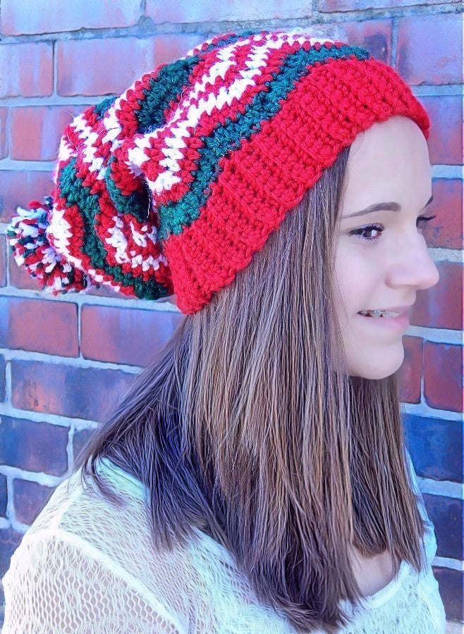 Merry Slouchy Hat  - Designed by Karen McKenna