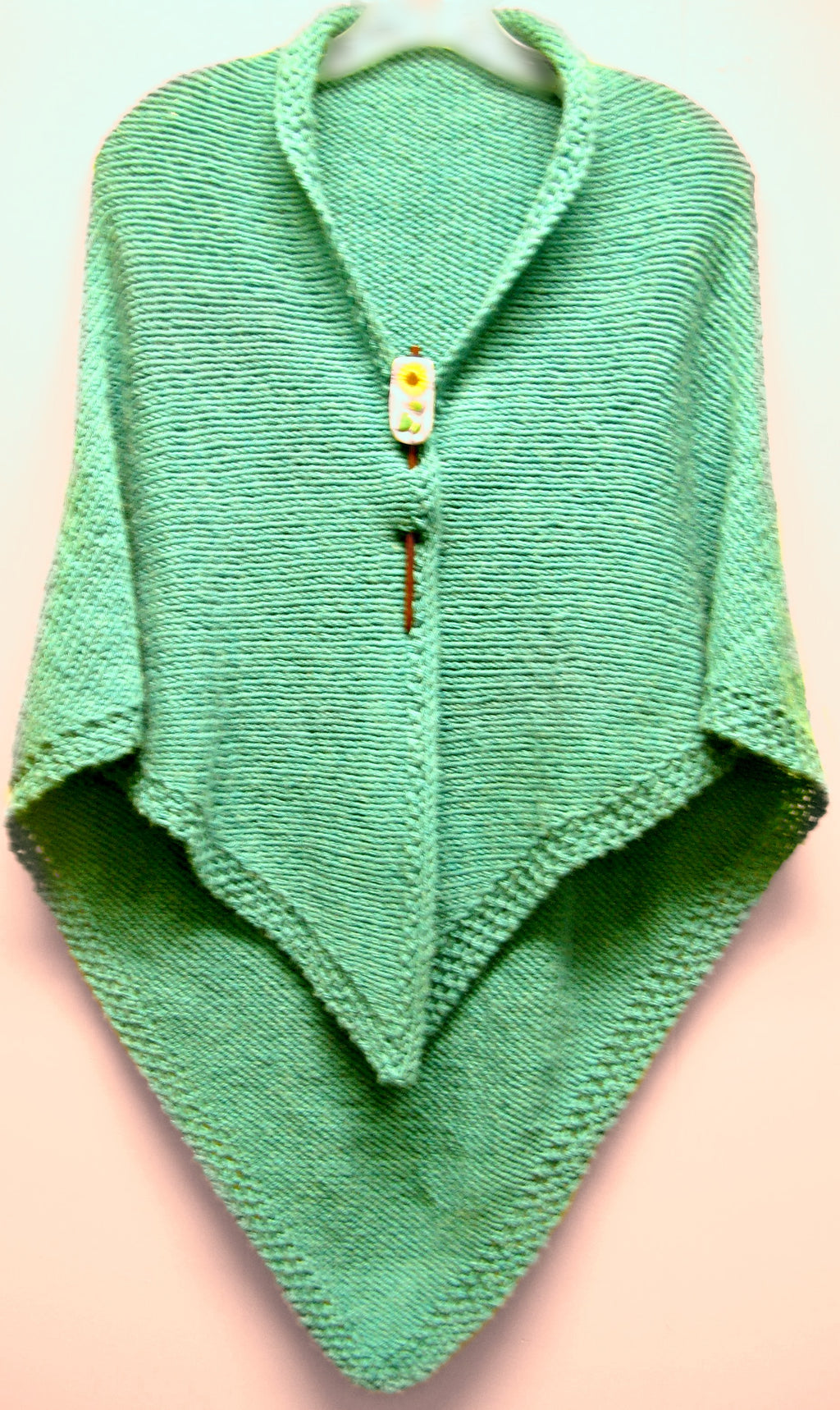 Moss Stitch Bordered Shawl  - Designed by Stephanie Boozer