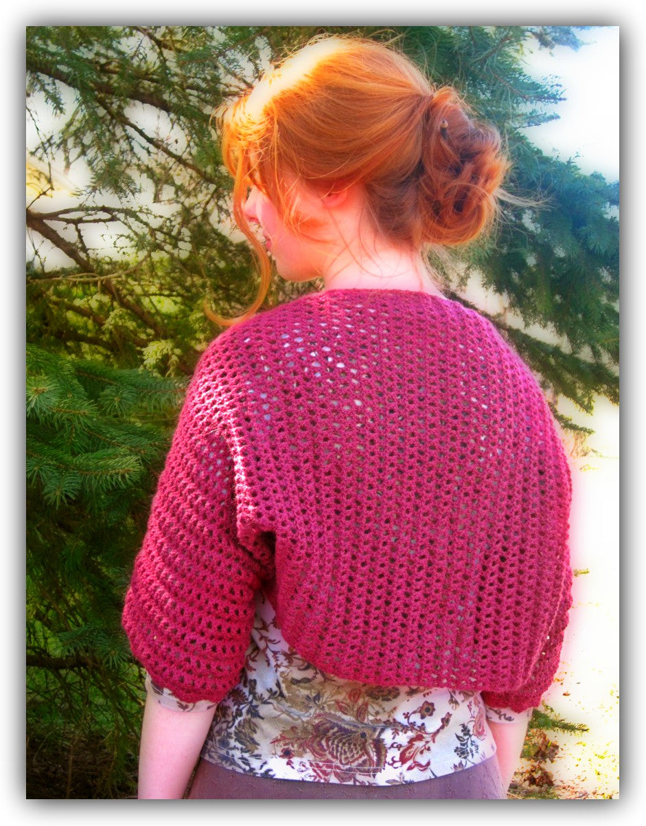 Mountain Laurel Shrug  - Designed by Kristen Stoltzfus