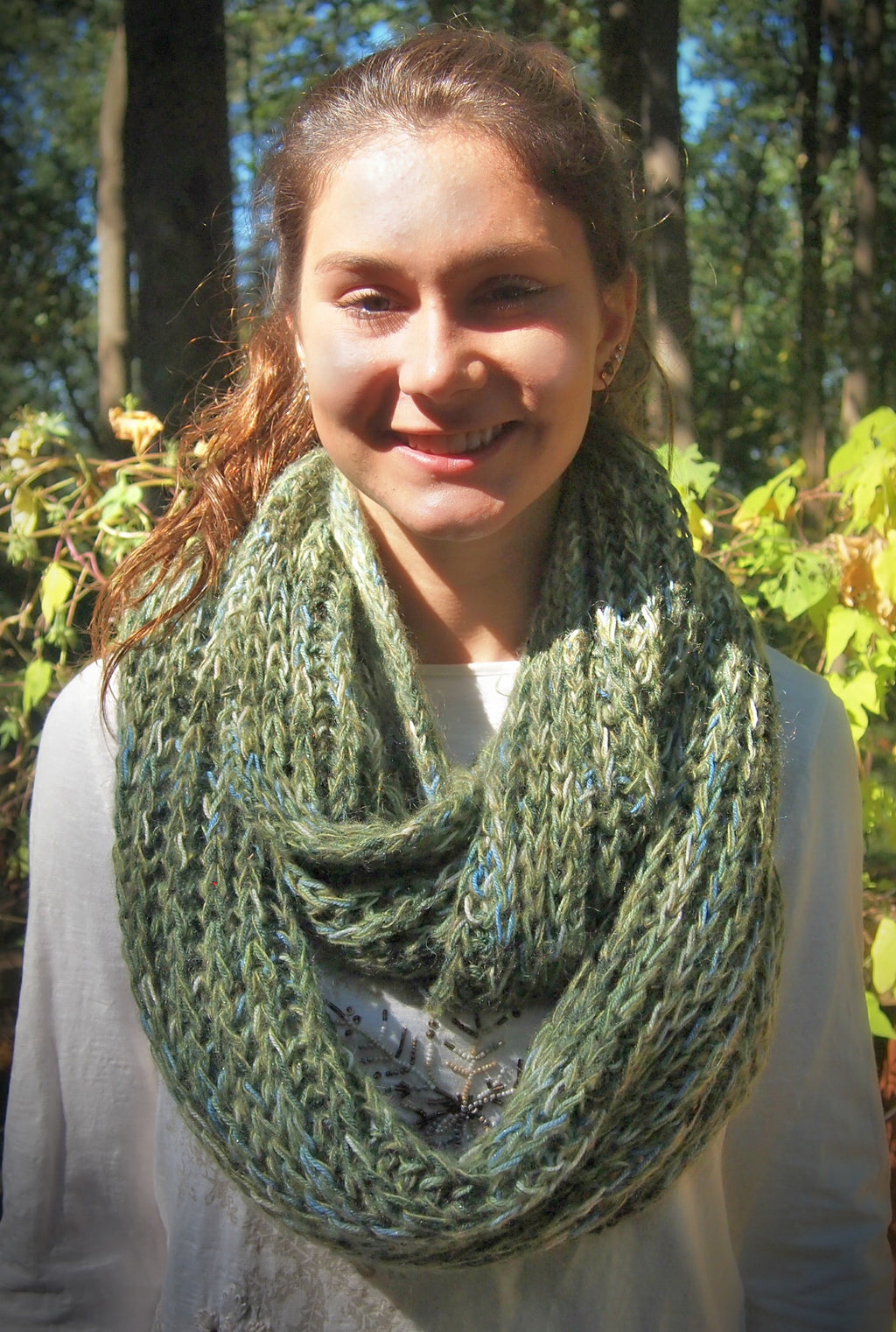 Mountain Springs Infinity Cowl  - Designed by Stephanie Boozer