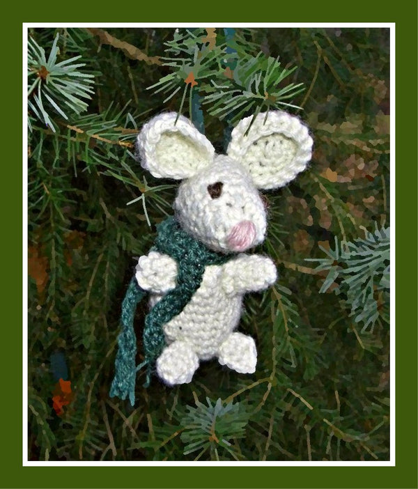 Pip the Mouse Christmas Ornament  - Designed by Corina Cook