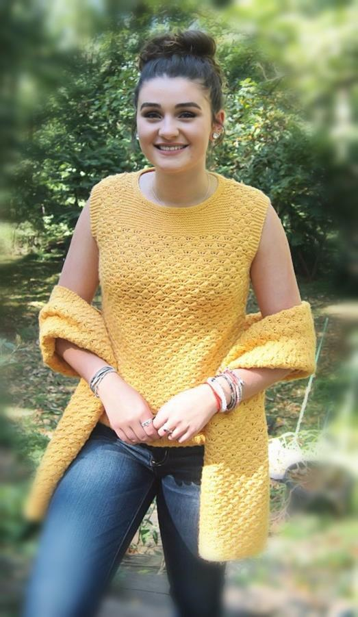 Purl Shell Top & Wrap  - Designed by Kathy Zimmerman