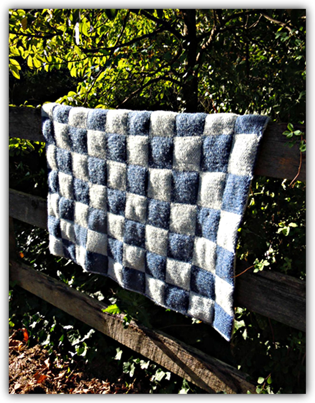 Quilted Double Knit Afghan  - Designed by Clara Masessa