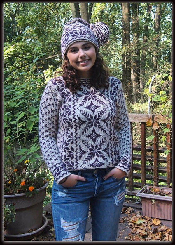 Ranch Rose Sweater & Hat  - Designed by Kate Lemmers