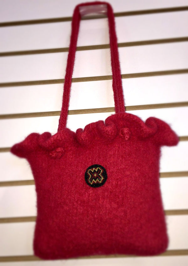 Romantic Ruffles Felted Handbag  - Designed by Kate Lemmers