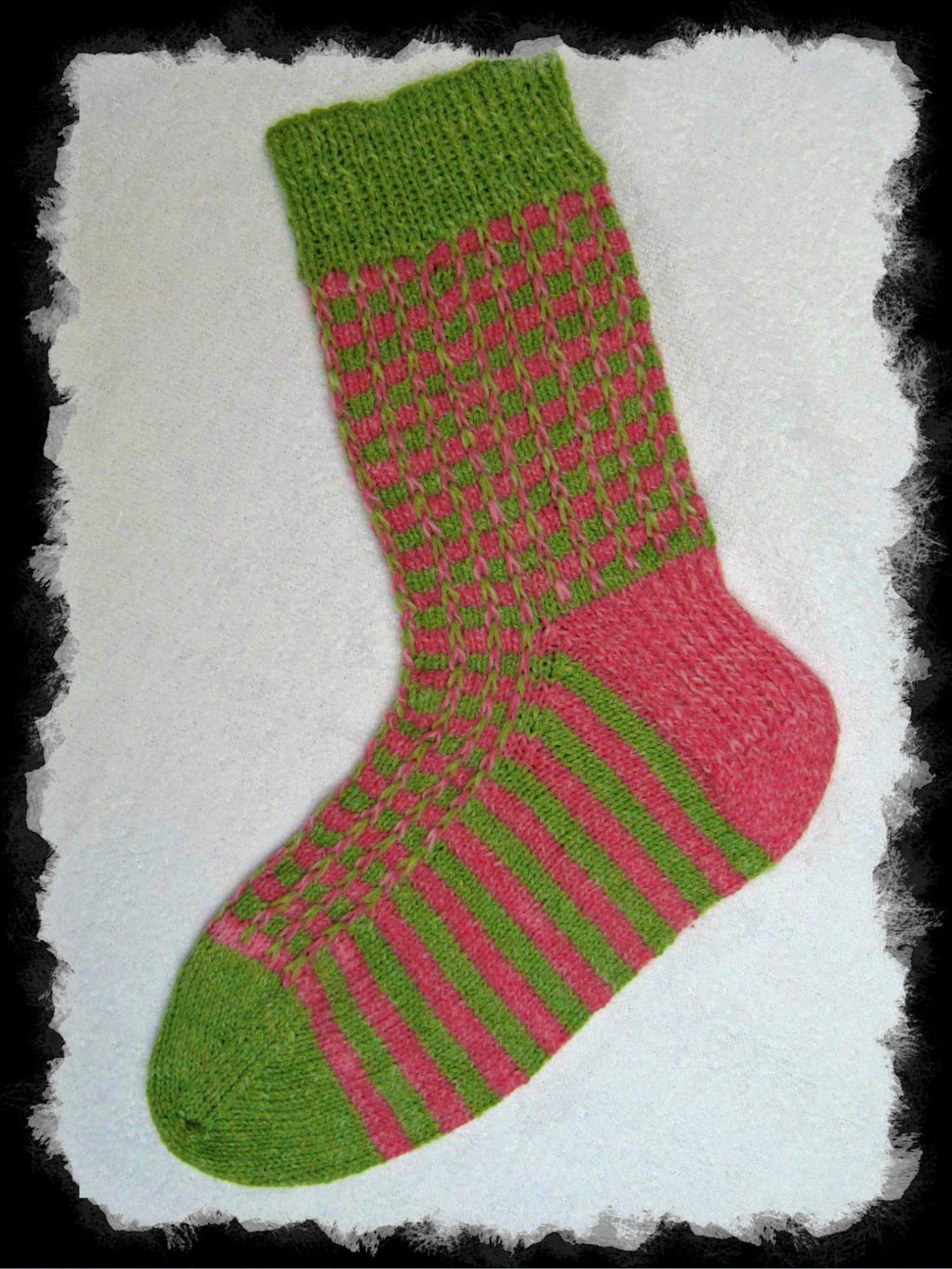 Slip Stitch Saucon Sock  - Designed by Clara Masessa