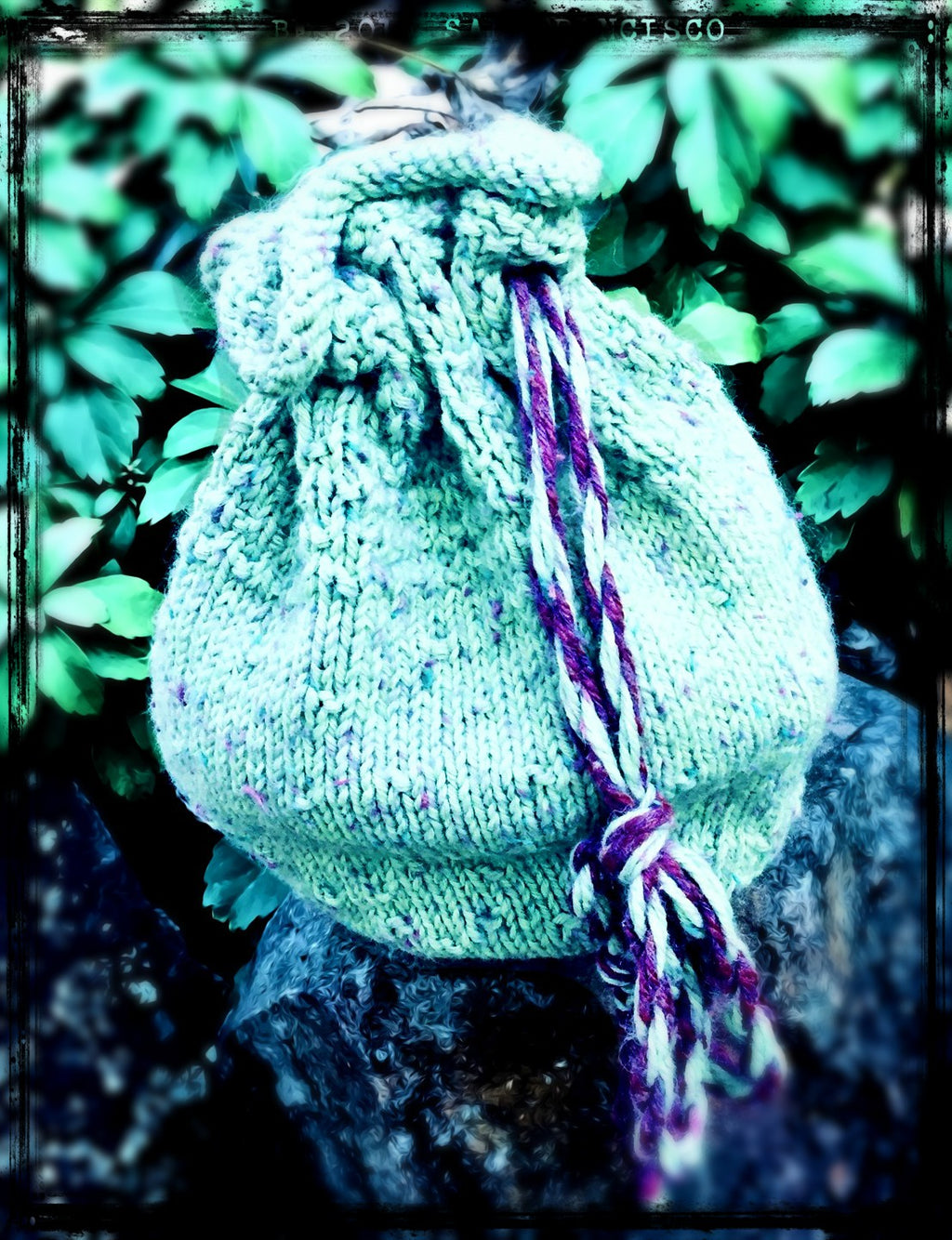 Spring Treasure Drawstring Bag  - Designed by Kate Lemmers