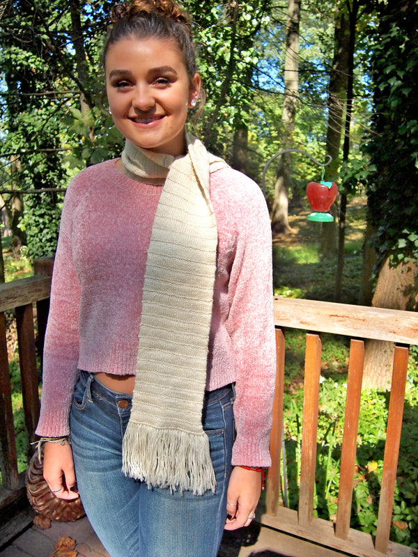 Double Knit Sterling Scarf - Designed by Clara Masessa