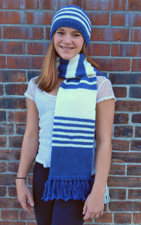 Team Colors Scarf & Hat  - Designed by Jan Bellhorn
