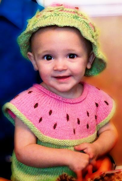 Watermelon Dress & Hat Kit - - Designed by Clara Masessa