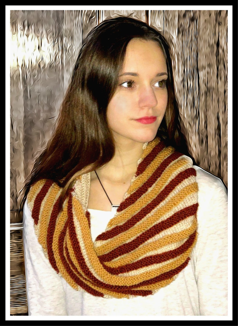 Bias Stripe Cowl - Designed by Clara Masessa