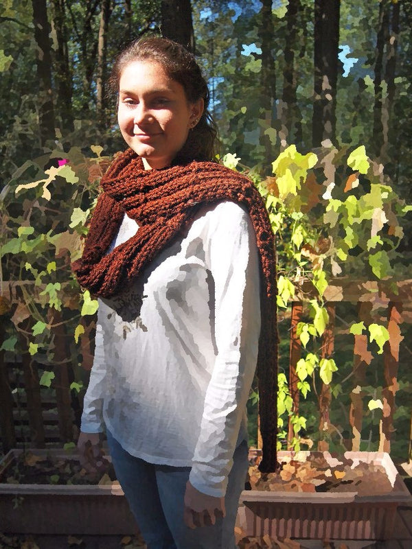 Brick Path Scarf - Designed by Eleanor Swogger
