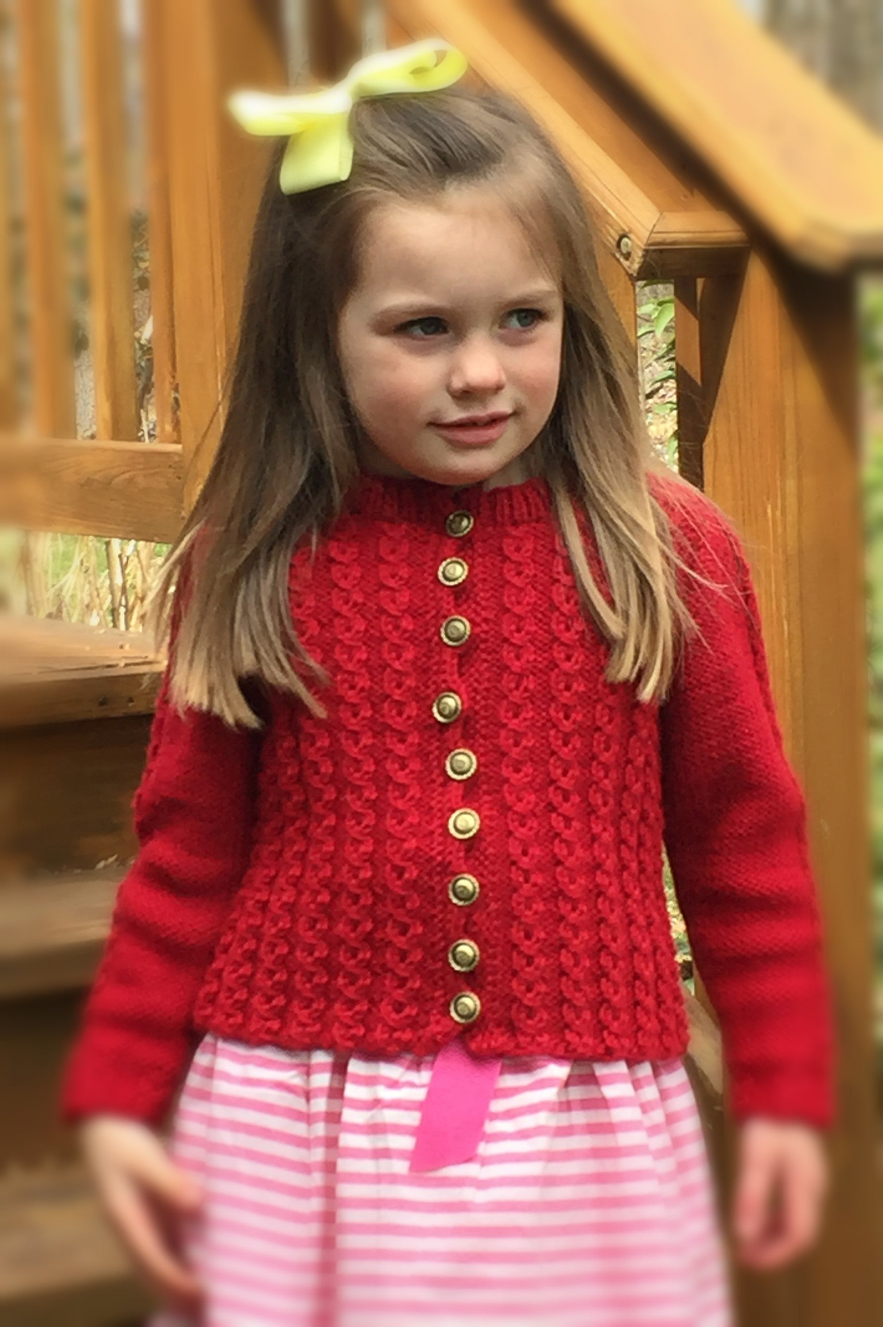 Childs Mock Cable Sweater Designed By Clara Masessa Patterns By