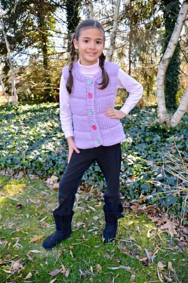 Childs Puffy Vest - Designed by Clara Masessa