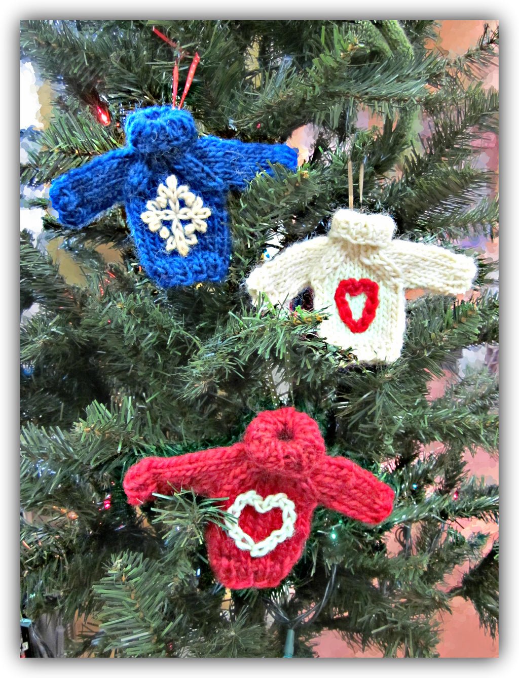 Christmas Sweater Ornaments - Designed by Stephanie Boozer