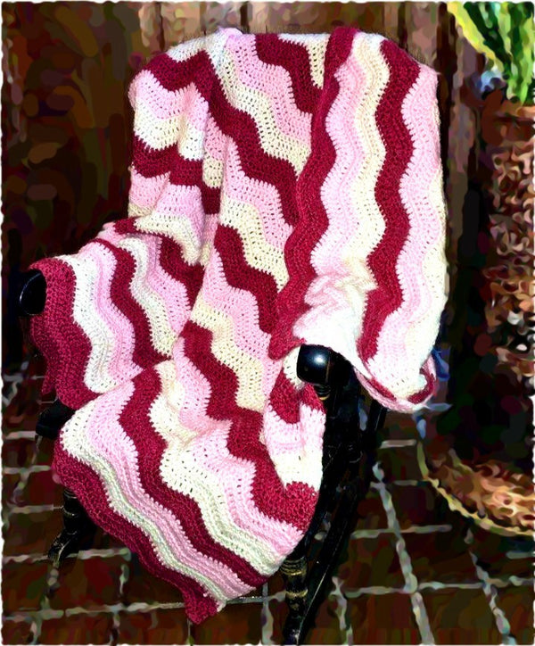 Crochet Berry Parfait Blanket - Designed by Michelle Tang