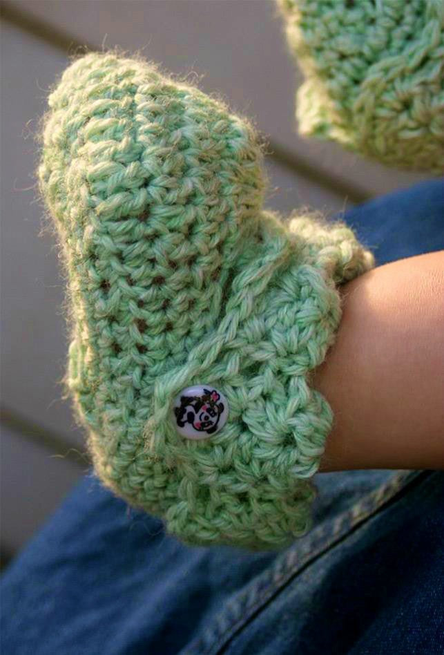 Crochet for Baby Bootie - Designed by Kristen Stoltzfus
