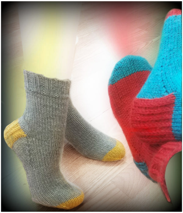 Easy Bed Socks Kit  - Designed by Stephinie Boozer