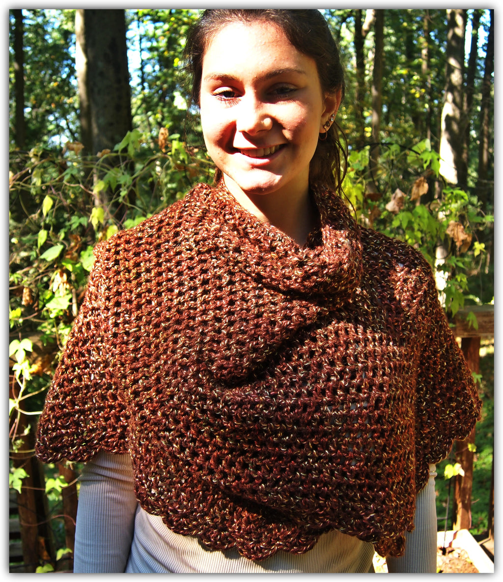 Fall Shawl Crochet  - Designed by Beth Knox