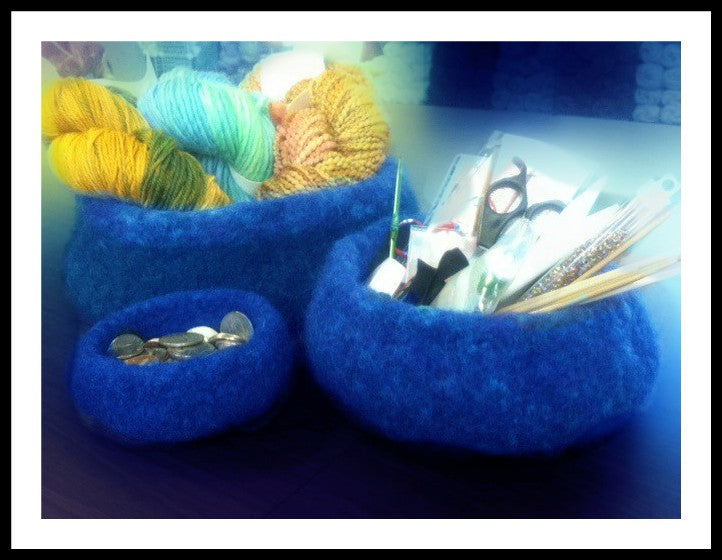 Felted Stacking Bowls  - Designed by Eleanor Swogger