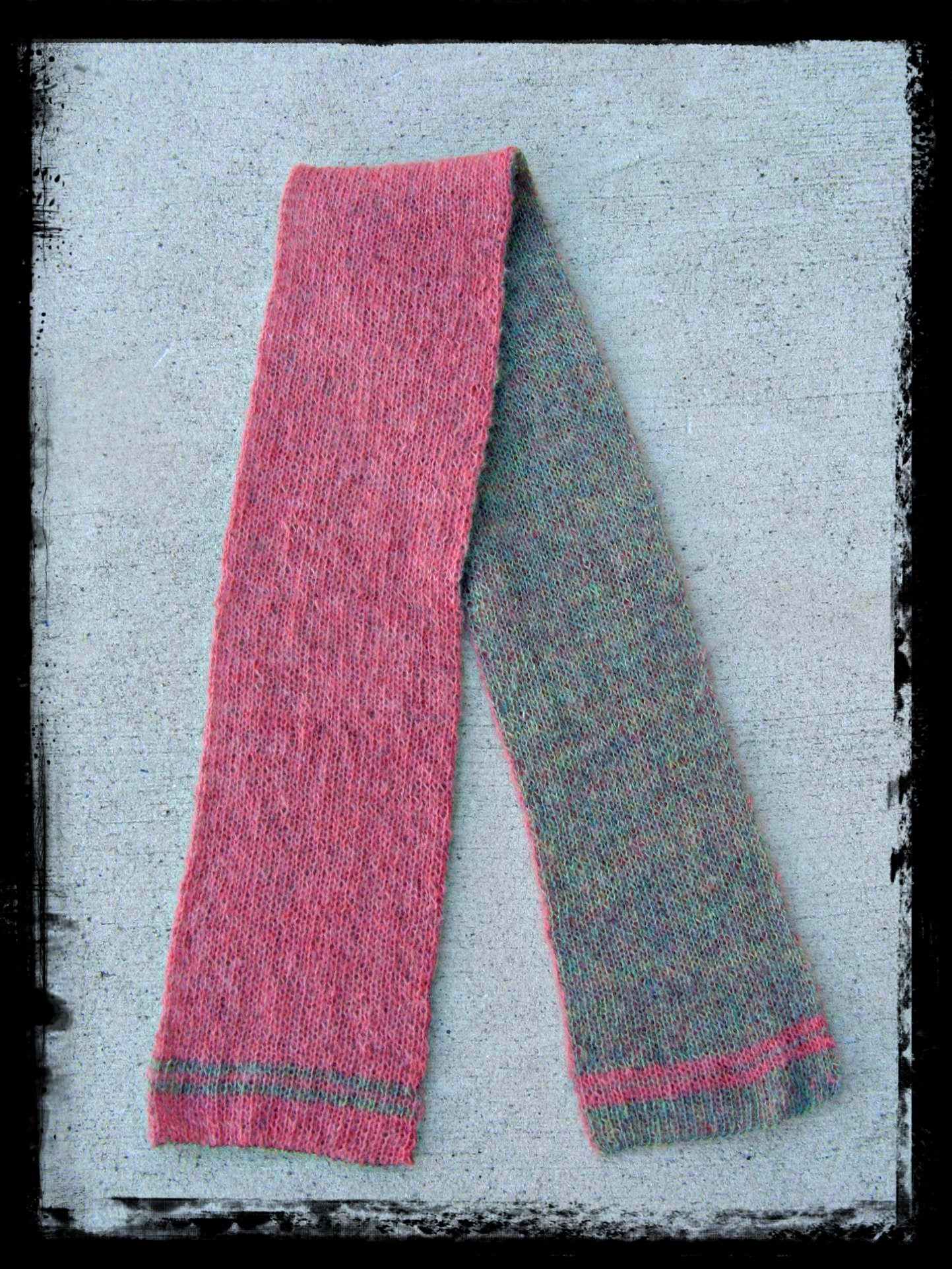 Fountain Hill Double Knit Scarf - Designed by Clara Masessa