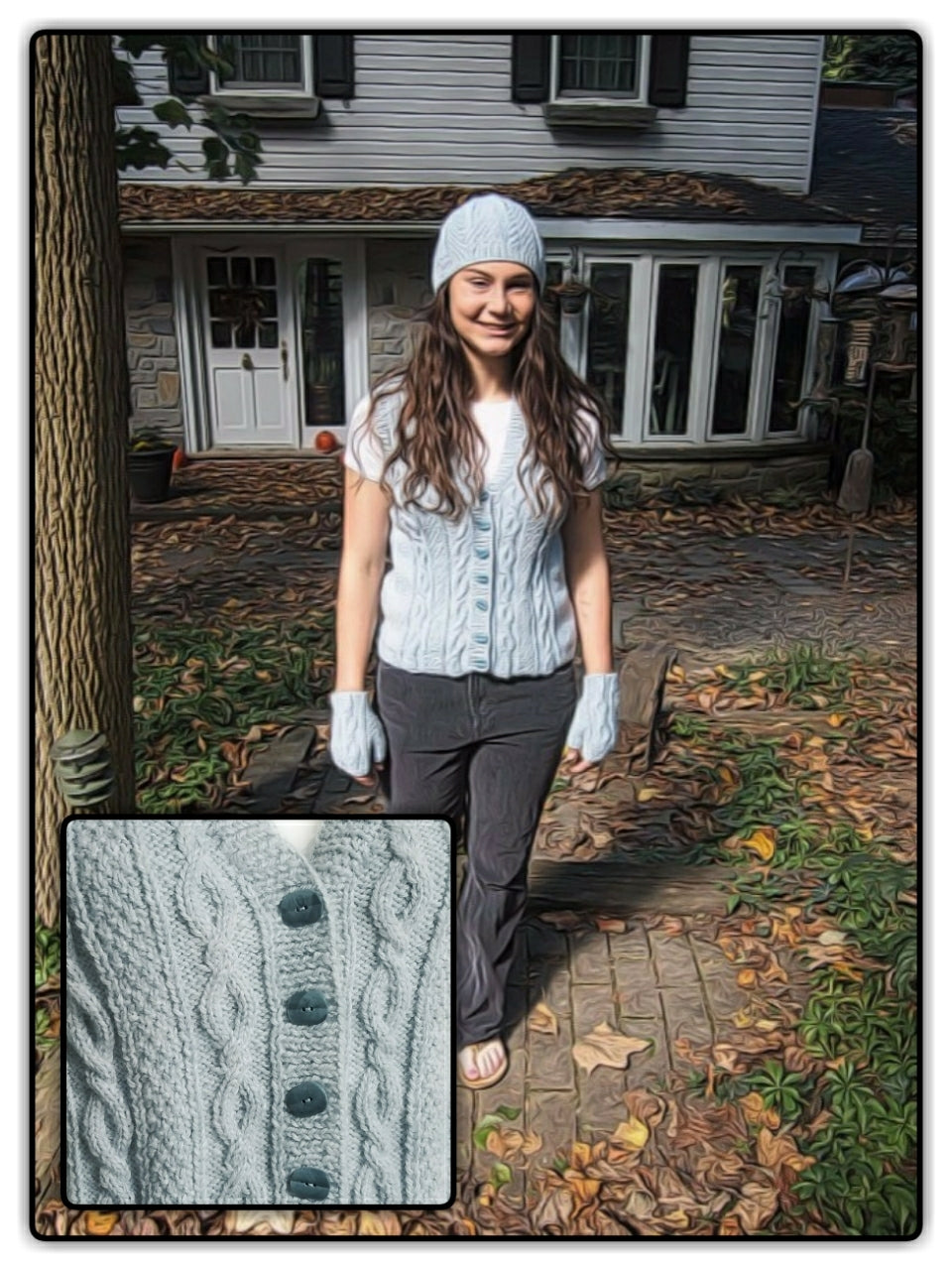 Cables and Textures Vest - Designed by Kathy Zimmerman