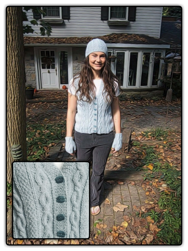Cables and Textures Vest Kit - Designed by Kathy Zimmerman
