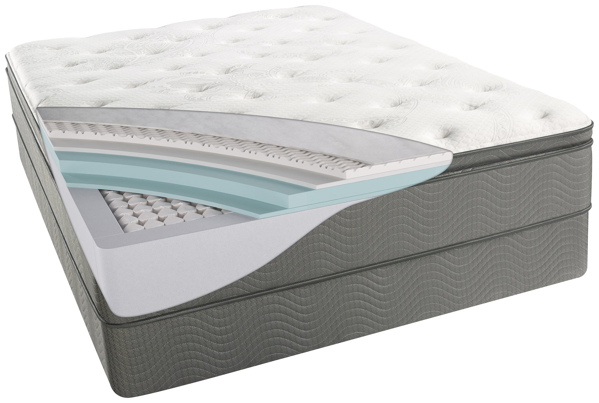 and queen pad quilted com tite sleep malouf damask home fill down cover dp mattress pillow amazon bel alternative topper with kitchen