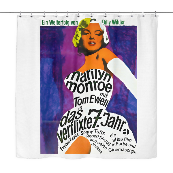 Marilyn Monroe 7 Year Itch Vintage Poster Shower Curtain
