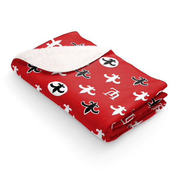 University of Louisiana Lafayette Ragin' Cajuns Sherpa Fleece Throw Blanket 50x60