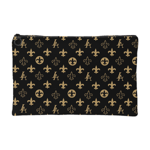 "New Orleans Saints Louisiana Elegance ""Louis"" Carry All Makeup Bag Pouch"