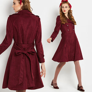 Vintage 1960s Wine Princess Coat