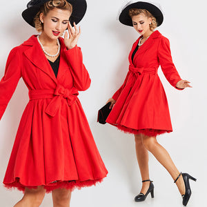 Vintage 1950s Full Skirt Red Princess Cut Jacket