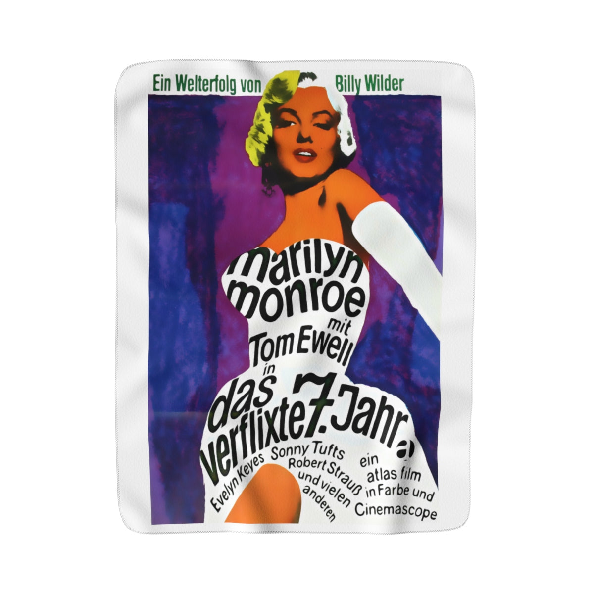 Marilyn Monroe Vintage Poster 7 Year Itch Premium Sherpa Fleece Blanket