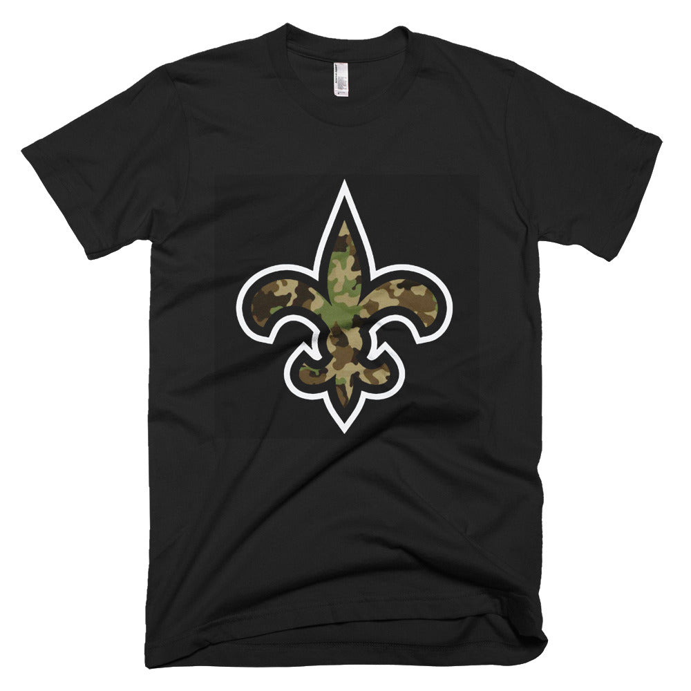 Custom name and Number camouflage New Orleans Saints Short-Sleeve T-Shirt