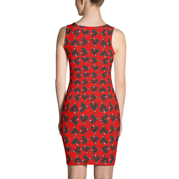 Bowie as far as the eyes can see bodycon Dress