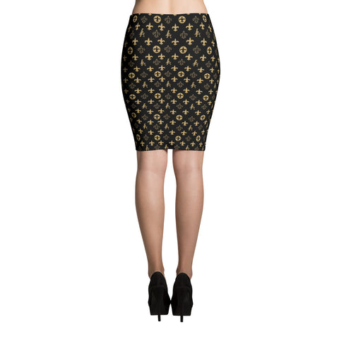 "New Orleans Saints Louisiana Elegance ""Louis"" Pencil Skirt"