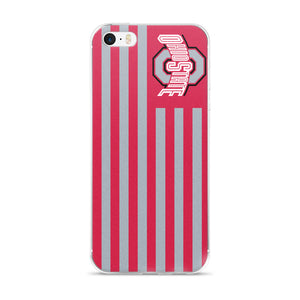 Ohio State OSU Americian Flag iPhone Case 5 / 5S / 5SE / 6 / 6S / 7 / 8 / PLUS / X