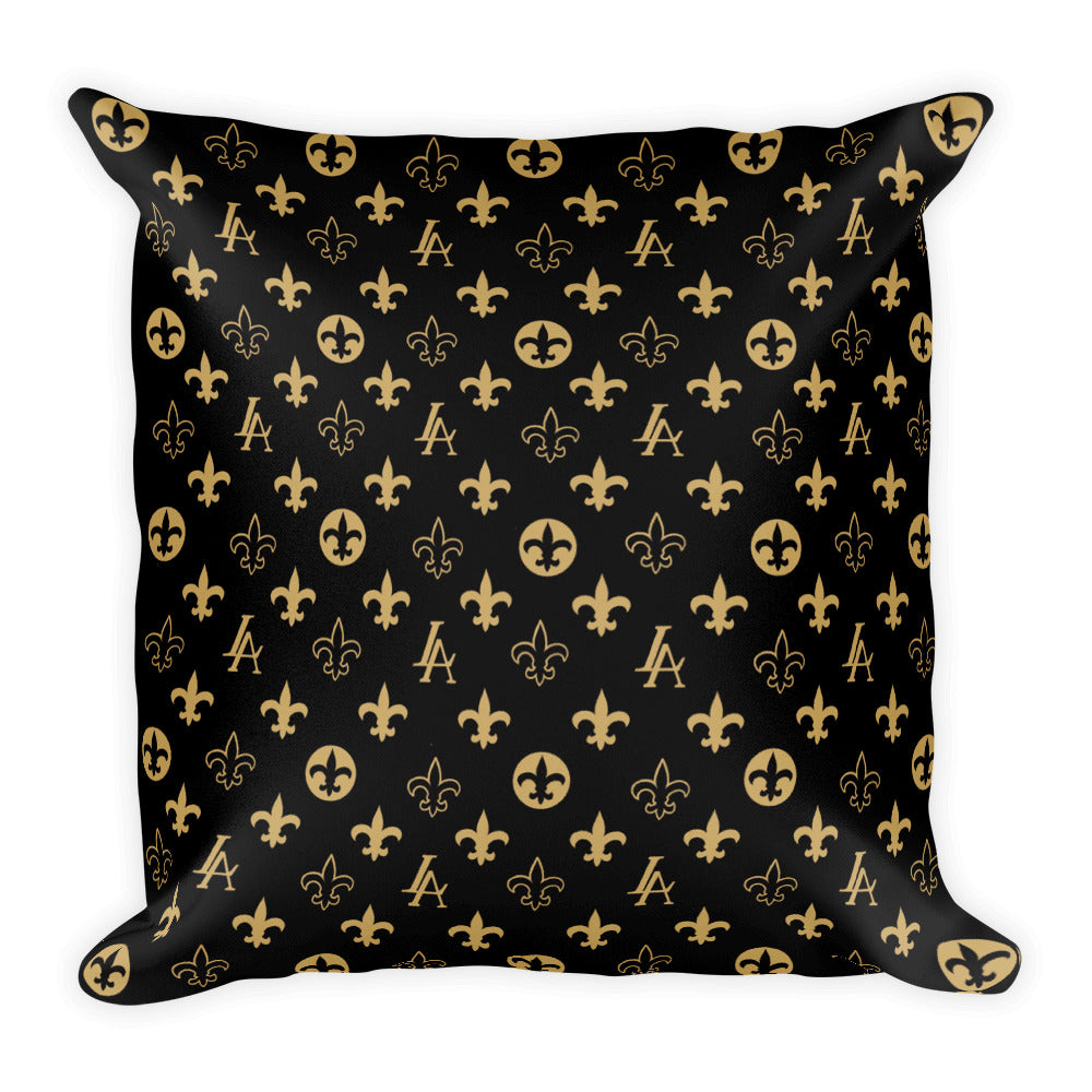 "New Orleans Saints Louisiana Elegance ""Louis"" Square Pillow"