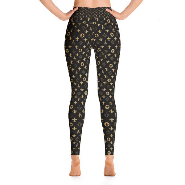 "New Orleans Saints Louisiana Elegance ""Louis"" Premium Yoga Leggings"