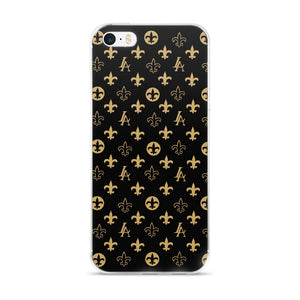 "New Orleans Saints Louisiana Elegance ""Louis"" iPhone Case"